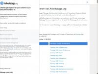 arbeitstage.org Webseite Vorschau