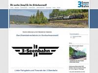 3seenbahn.de Webseite Vorschau