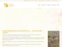 kinderkrebshilfe-muenster.de Webseite Vorschau