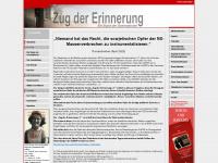 zug-der-erinnerung.eu Webseite Vorschau