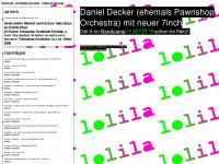 lolilarecords.de Webseite Vorschau