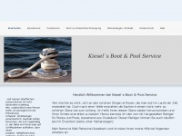 kiesels-boot-pool-service.de Webseite Vorschau