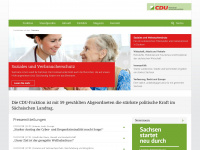cdu-fraktion-sachsen.de Webseite Vorschau