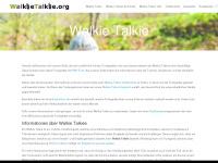 walkietalkie.org Webseite Vorschau