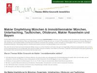 makler-empfehlung-muenchen.de Webseite Vorschau