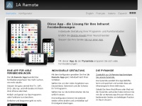 1aremote.net Webseite Vorschau