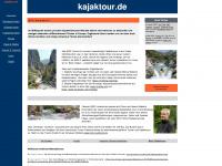 kajaktour.de Webseite Vorschau
