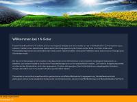 1a-solar.com Webseite Vorschau