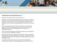 verband-bayerischer-geschichtsvereine.de Webseite Vorschau