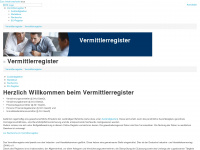 vermittlerregister.info Webseite Vorschau