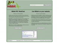 mibbit.com Webseite Vorschau