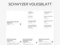 schwyzer-volksblatt.ch Webseite Vorschau