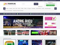 4alltickets.nl Webseite Vorschau