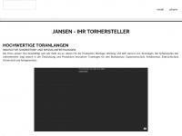 jansentore.com Webseite Vorschau