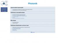 photonik.physik.uni-potsdam.de Webseite Vorschau