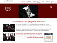 zauberer-andre.com Webseite Vorschau