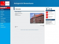 amtsgericht-bremerhaven.bremen.de Webseite Vorschau