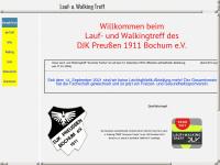 walking-in-grumme.net Webseite Vorschau