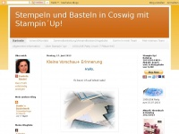 stempelundbastelnincoswigbeidresden.blogspot.com Webseite Vorschau