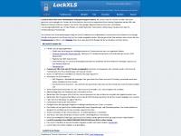 lockxls.de Webseite Vorschau