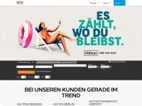 hiltonhotels.de Webseite Vorschau