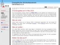kirchenbauverein-oerlenbach.de Webseite Vorschau
