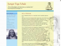 iyengar-yoga-schule.de Webseite Vorschau