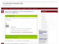investment-solution.de Webseite Vorschau