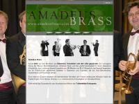 amadeusbrass.com Webseite Vorschau