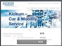 kickum.eu Webseite Vorschau