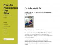 physiotherapie-koehne.de Webseite Vorschau