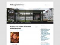 philosophie-indebate.de Webseite Vorschau