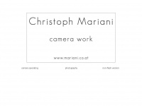 photography.mariani.co.at Webseite Vorschau