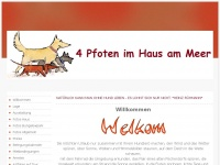 4-pfoten-im-haus-am-meer.de Webseite Vorschau