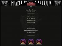 8ball-tattoos.com Webseite Vorschau