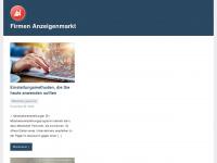 firmen-anzeigenmarkt.de Webseite Vorschau