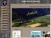 amlach.net Webseite Vorschau