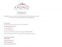 amomed.com Webseite Vorschau