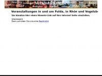 veranstaltungen-fulda.net Webseite Vorschau