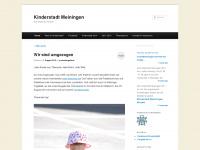 kinderstadtmeiningen.wordpress.com Webseite Vorschau