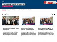 cdu-quickborn.de Webseite Vorschau