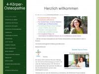 4-koerper-osteopathie.de Webseite Vorschau