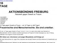 16days-freiburg.de Webseite Vorschau