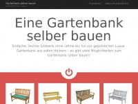 holzbank gartenbank gartenbank holz. Black Bedroom Furniture Sets. Home Design Ideas