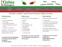 1alles.de Webseite Vorschau