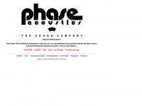 phase-acoustics.de Webseite Vorschau
