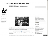 Rossundreiterrecords.de
