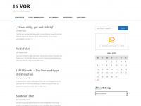 16vor.de Webseite Vorschau