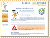 kinderuni-rostock.de Webseite Vorschau