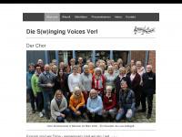 swinging-voices-verl.de Webseite Vorschau
